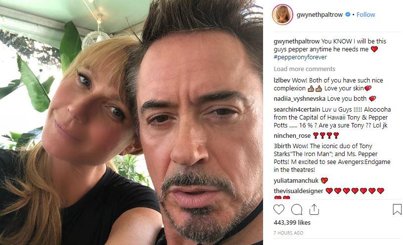 Gwyneth Paltrow Robert Downey Jr.