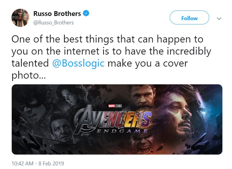 Avengers: Endgame Russo Brothers Bosslogic