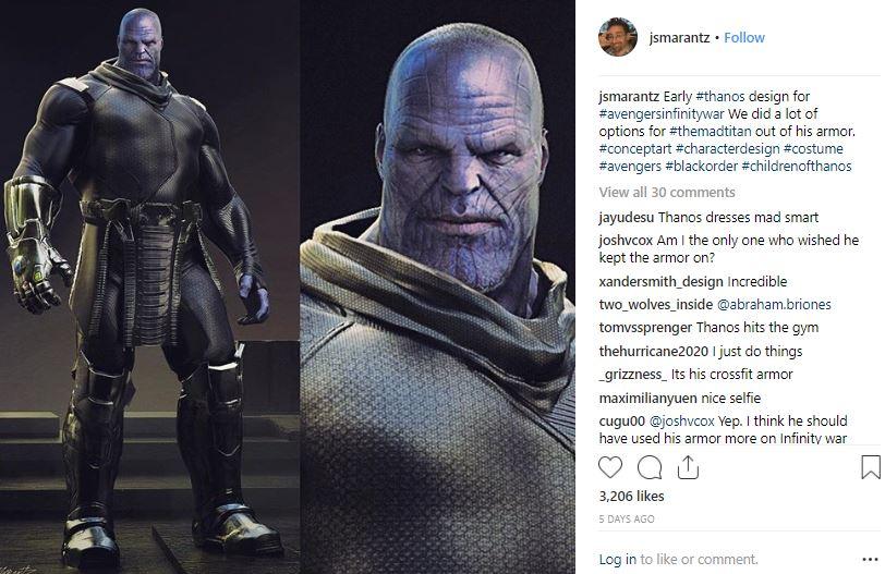 Avengers: Infinity War Concept Art Thanos
