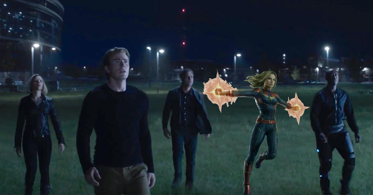 Photo of Every Scene Captain Marvel Could Be Edited From in Avengers: Endgame Trailers