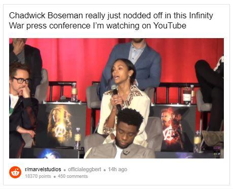 Avengers: Infinity War Chadwick Boseman Marvel