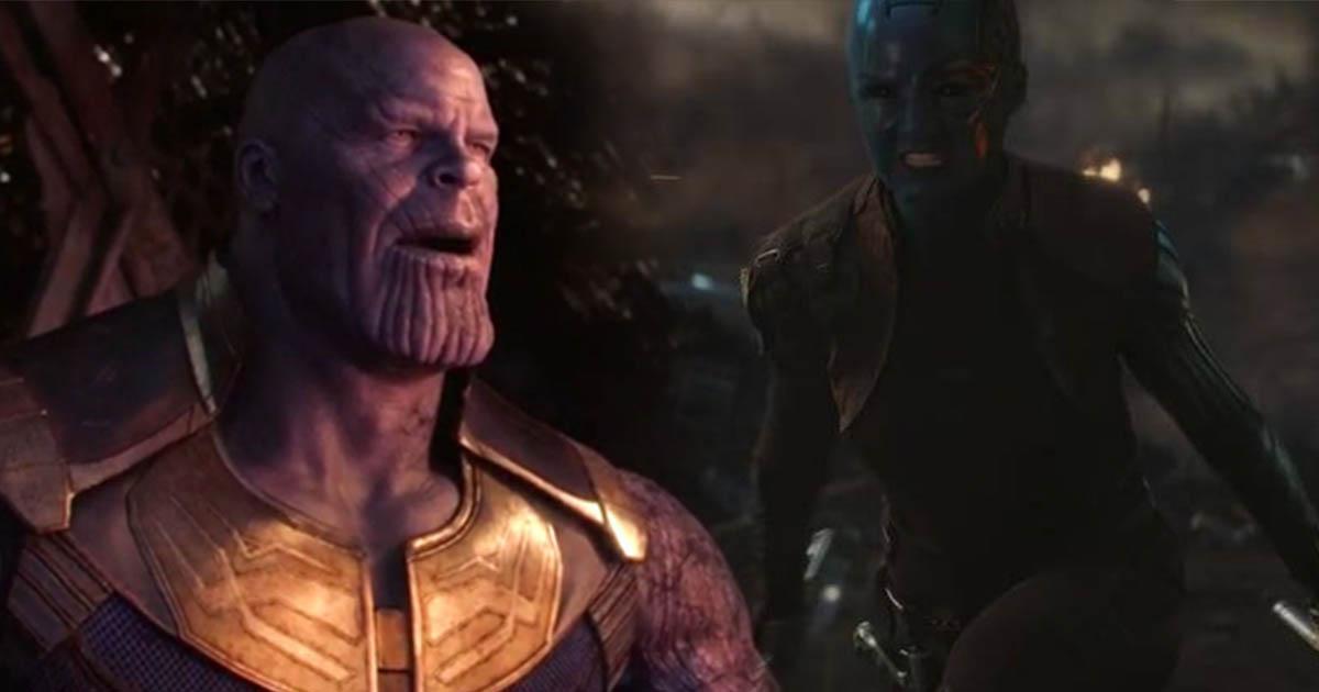 Avengers: Endgame Nebula vs Thanos Karen Gillan
