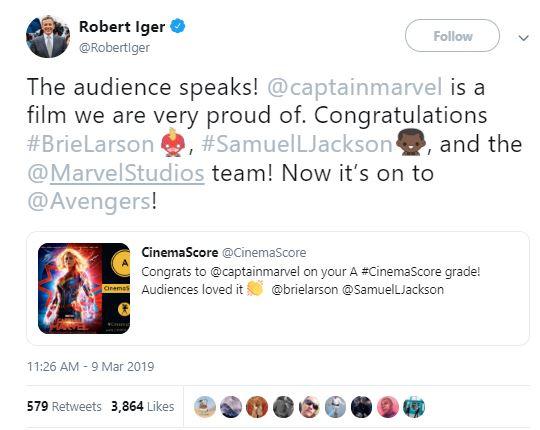 Captain Marvel 2 Avengers: Endgame Kevin Feige