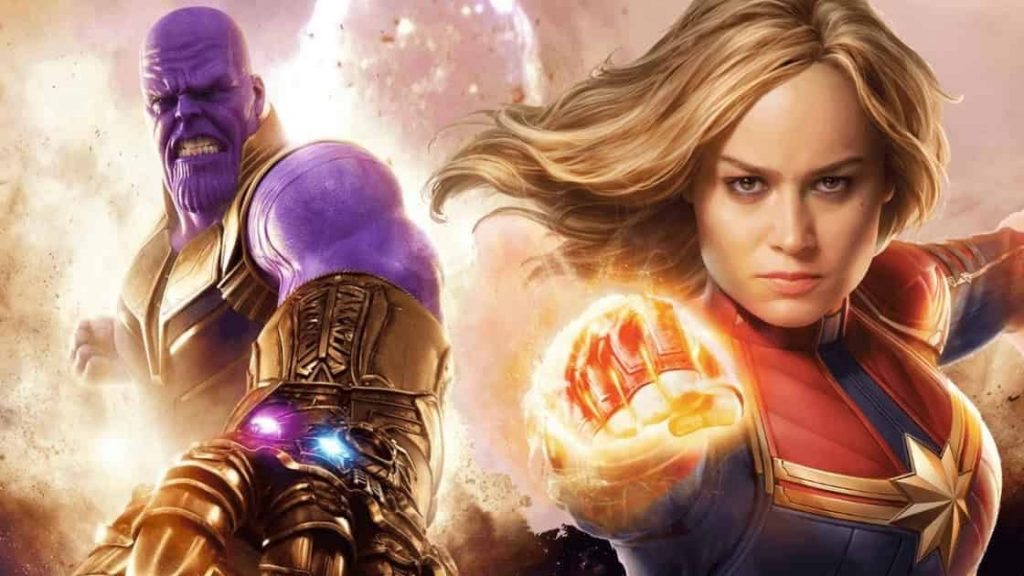 Brie Larson Captain Marvel Thanos