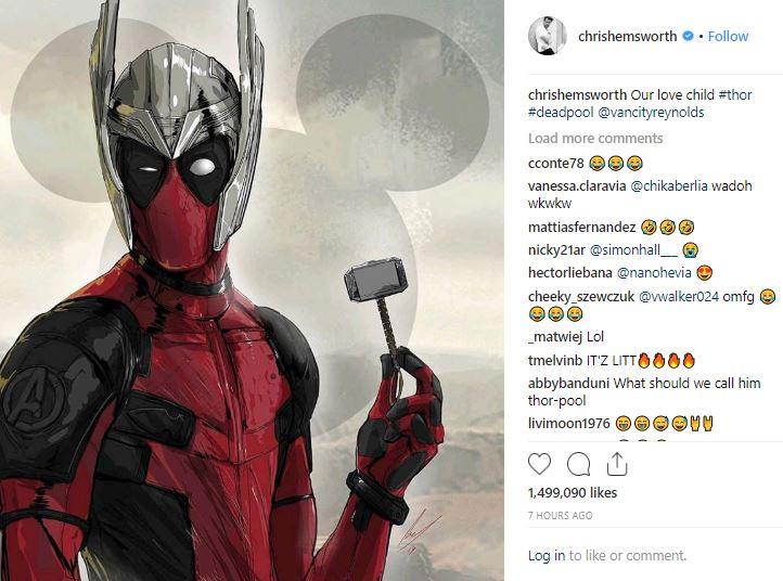 Chris Hemsworth Deadpool Ryan Reynolds MCU