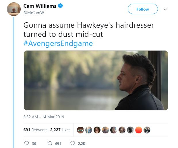 Avengers: Endgame Hawkeye