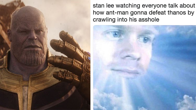 Avengers: Endgame Ant-Man in Thanos Butt