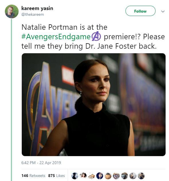 Avengers: Endgame Natalie Portman Jane Foster