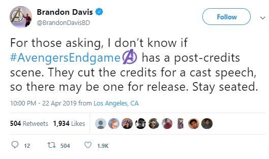 Avengers: Endgame World Premiere