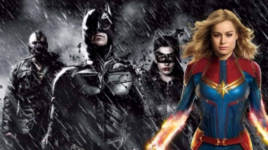 Captain Marvel Box Office Dark Knight Trilogy