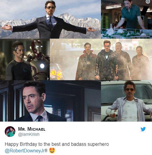 Chris Hemsworth Tessa Thompson Robert Downey Jr. Birthday MCU