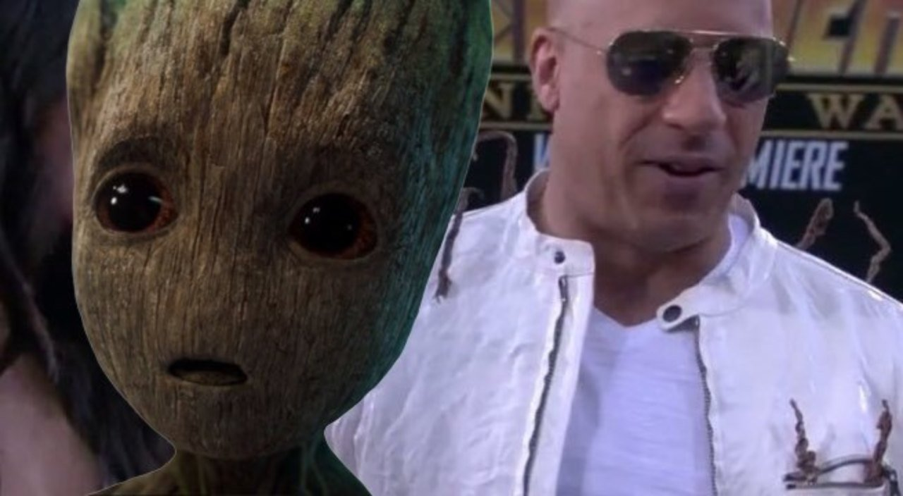 Photo of Vin Diesel Rocks The Groot Jacket at The Avengers: Endgame Premiere
