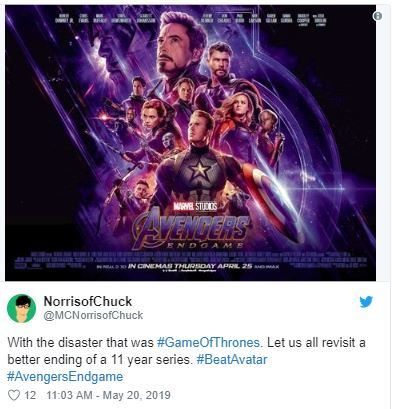 Avengers: Endgame #BeatAvatar Marvel