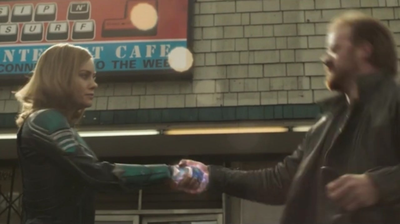 "Photo of Captain Marvel ""What, No Smile"" Deleted Scene Released"