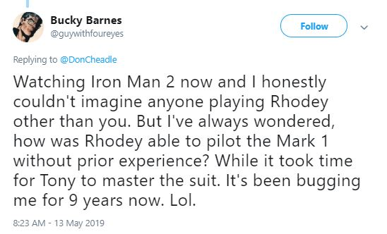 Don Cheadle Marvel Rhodey Tony Stark