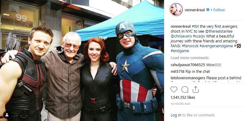 MCU Hawkeye The Avengers Stan Lee Jeremy Renner