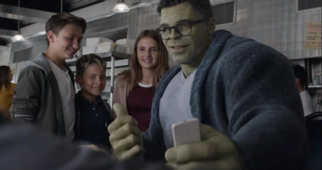 Avengers: Endgame Professor Hulk Diner Scene