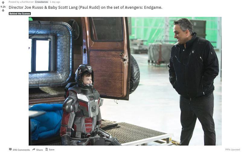 Avengers: Endgame Ant-Man Joe Russo Baby Ant Man