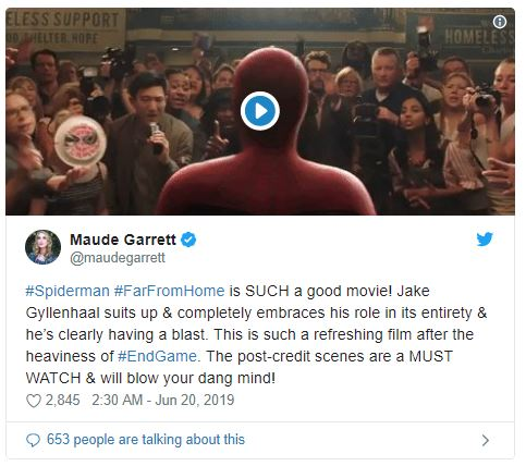 Spider-Man: Far From Home First Reactions