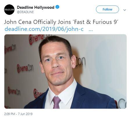 Fast & Furious 9 John Cena Vin Diesel