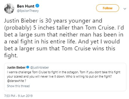 Tom Cruise Justin Bieber