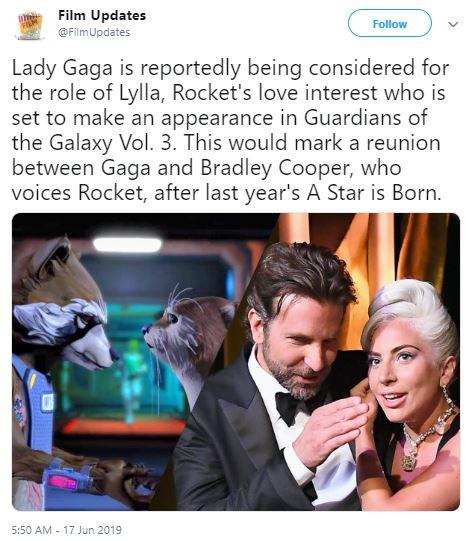 Guardians Vol 3 Rocket Lady Gaga