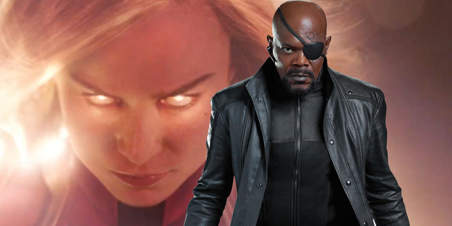Photo of New MCU Evidence Suggests Nick Fury Didn't Lose His Eye In Captain Marvel!!