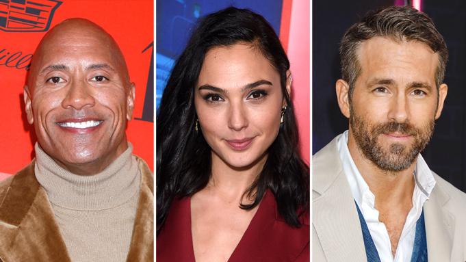 Dwayne Johnson Netflix Ryan Reynolds Gal Gadot