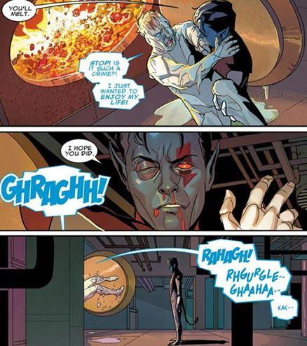 Brutal fights between X-Men members