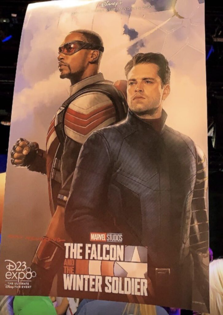 New Poster Reveals Comic-Accurate Falcon Suit Short Haired Winter Soldier