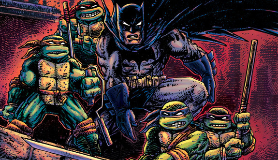 Batman and Teenage Mutant Ninja Turtles combine