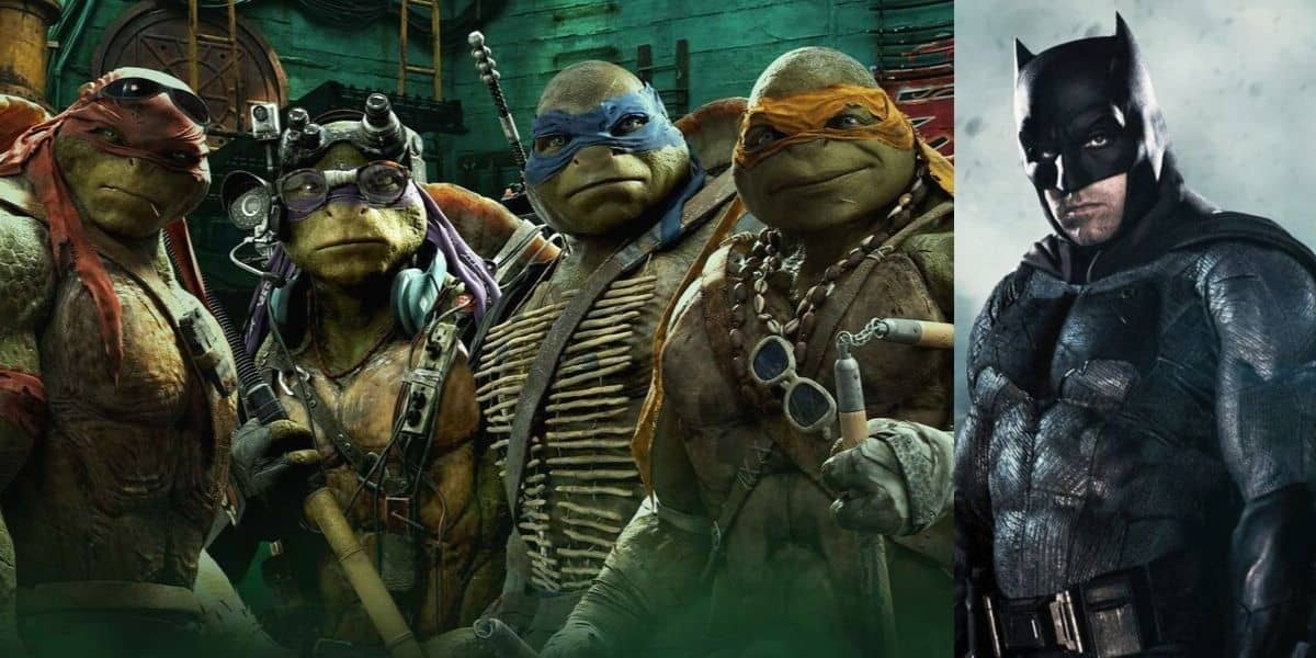 Batman and Teenage Mutant Ninja Turtles combine
