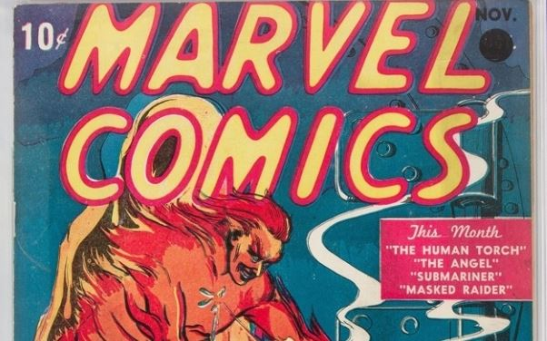 Marvel Comic Auctioned