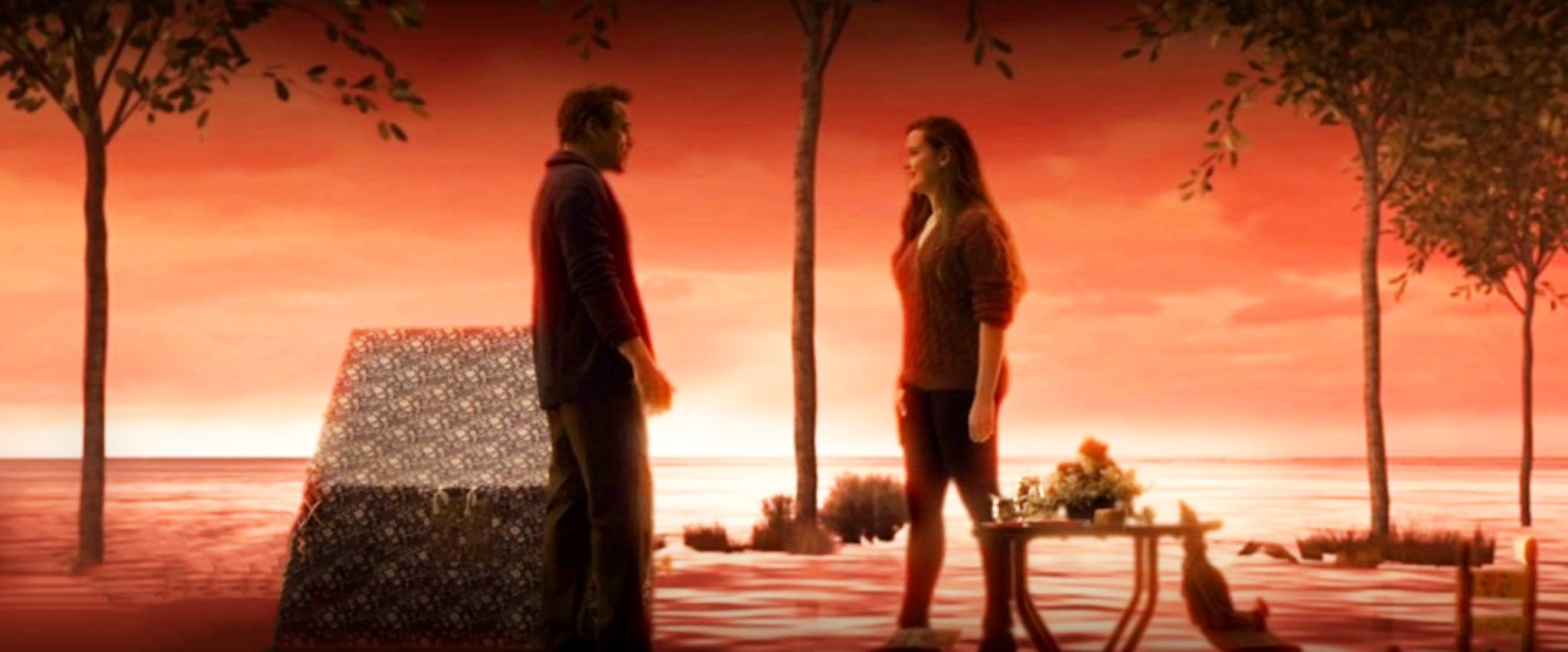Photo of The Endgame Afterlife Scene of Robert Downey Jr. & Katherine Langford Finally Revealed