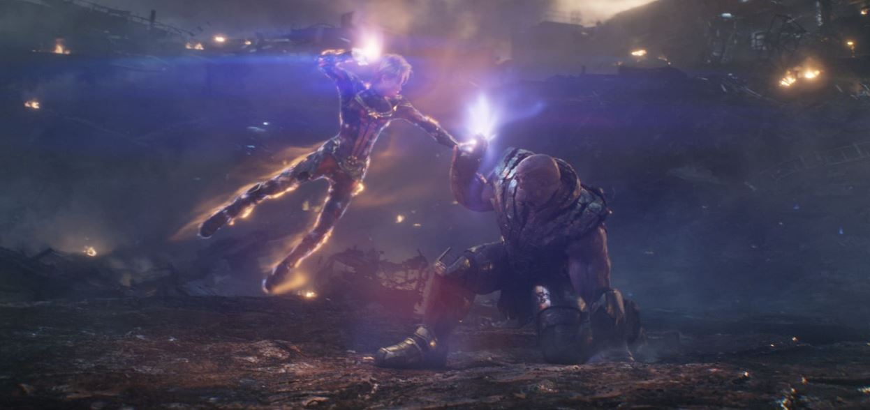 Thanos' Headbutt No Effect on Captain Marvel