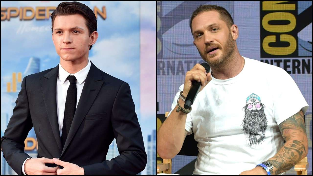 tom hardy and tom holland in venom 2