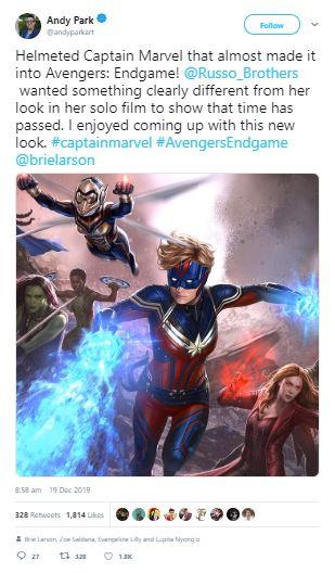 Avengers: Endgame Almost Gave Captain Marvel Helmet