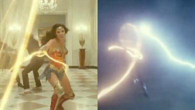 Photo of Wonder Woman Swings Through Lightning in 1984's First Tease