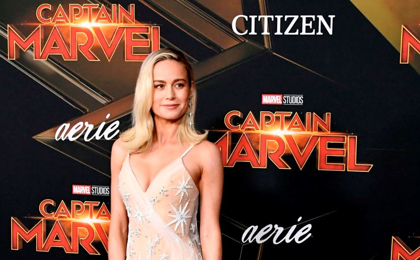 Brie Larson at a Marvel event
