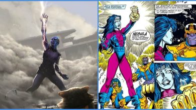 Photo of New Avengers: Endgame Concept Art Shows Nebula Wearing Infinity Gauntlet