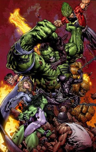 Hulk vs Juggernaut vs The Thing