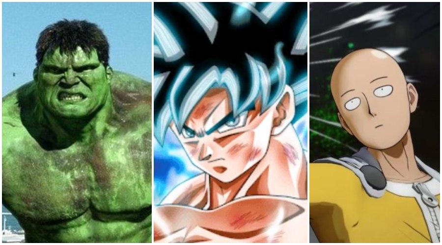 One Punch Man vs Goku vs The Hulk