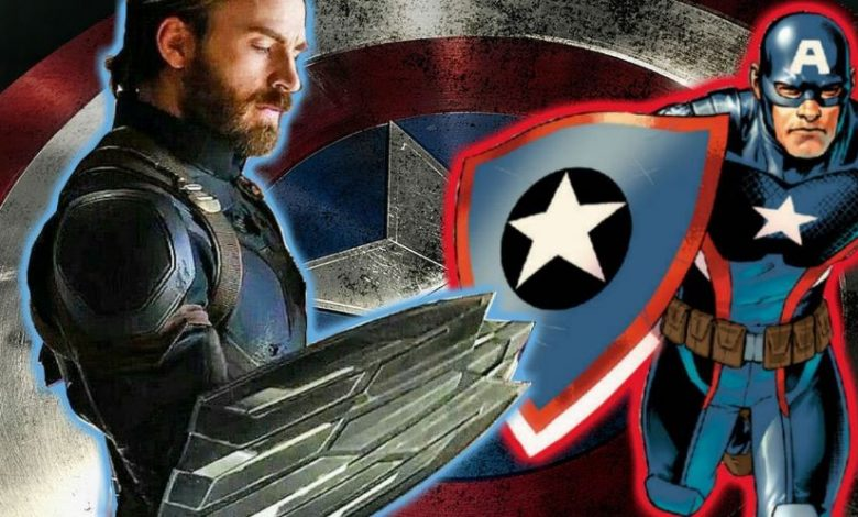 Unused Shield of Captain America from Avengers: Infinity War