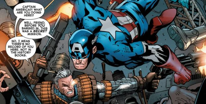 Marvel Made Captain America And Cable Team up