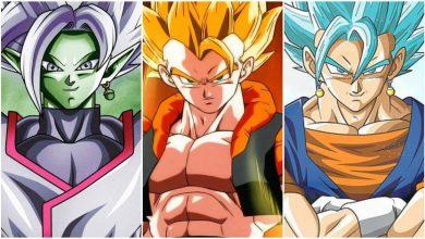 Fusions in Dragon Ball