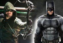 Stephen Amell Green Arrow and Ben Affleck Batman