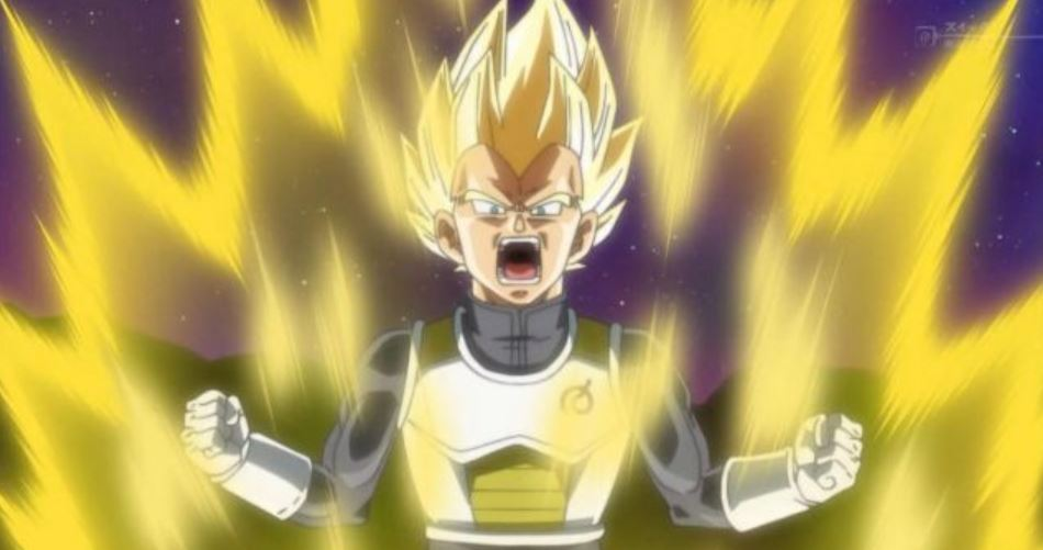 New Super Power Vegeta After Spirit Control Training