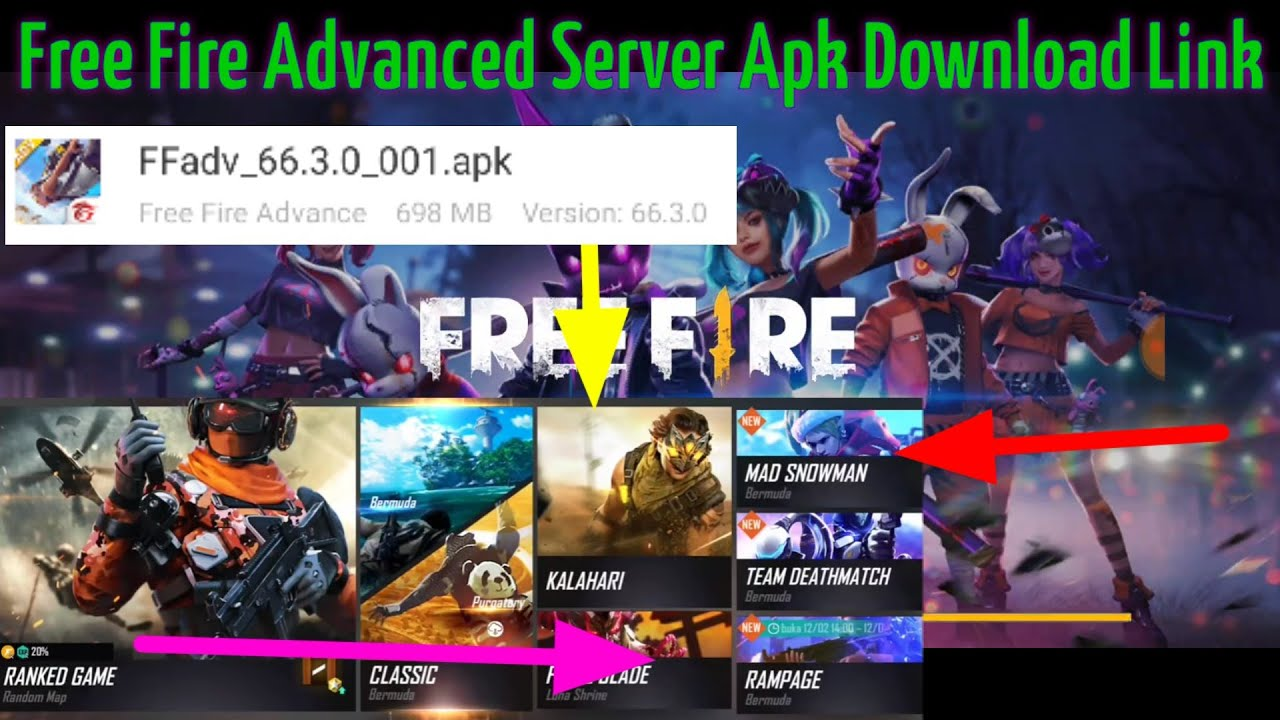Ff Advance Server Apk Download 2020 Android Free Quirkybyte