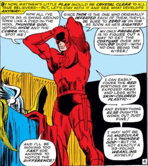 Daredevil Dressed Himself as Thor