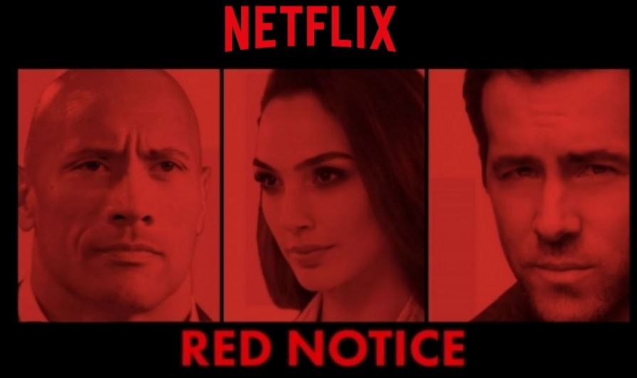 Netflix's Red Notice First Photos